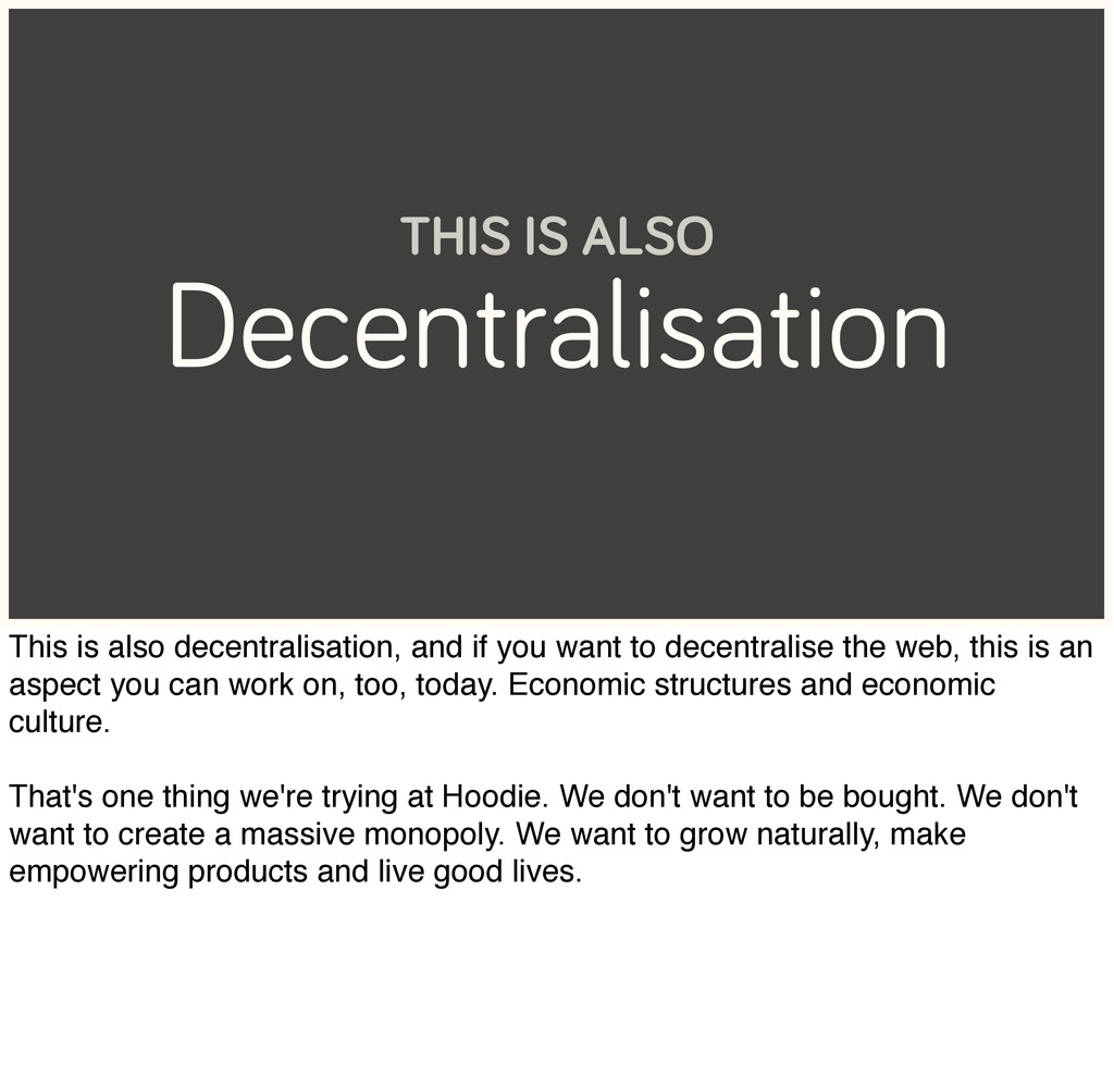 Decentralisation THIS IS ALSO This is also dece...