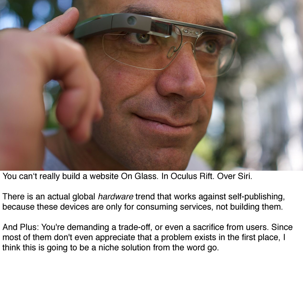 You can't really build a website On Glass. In O...