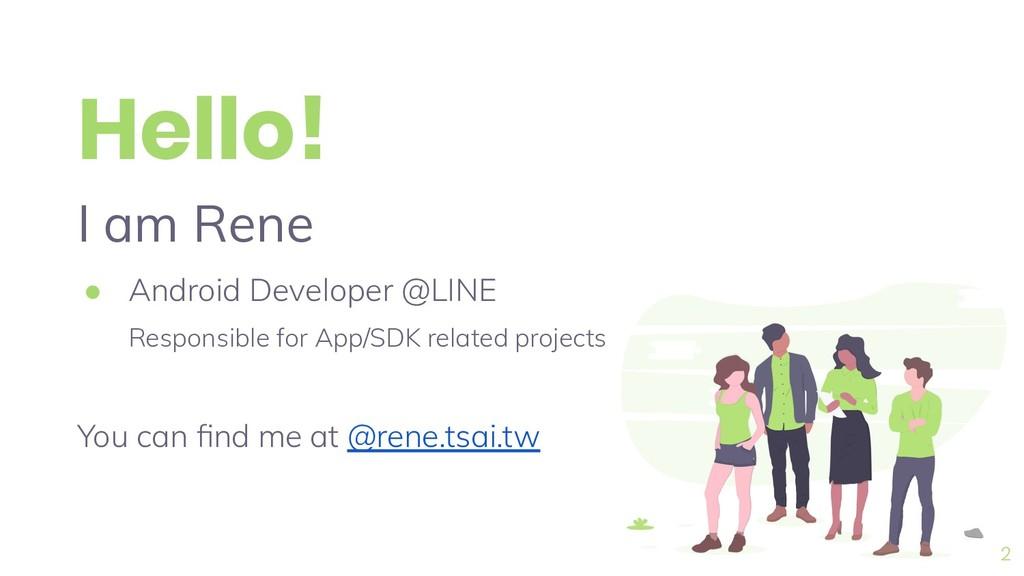 Hello! I am Rene ● Android Developer @LINE Resp...