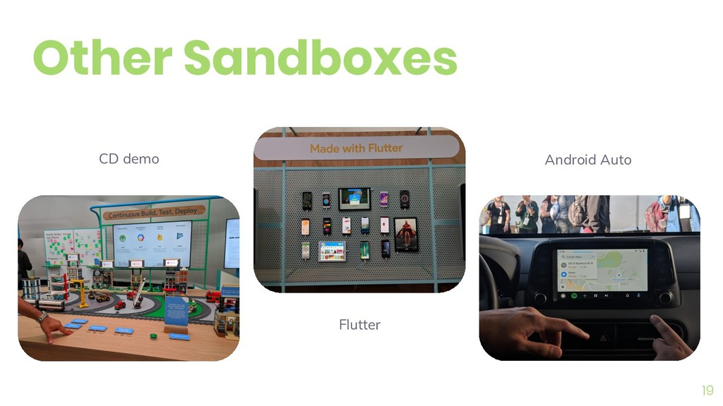 19 Other Sandboxes Flutter Android Auto CD demo
