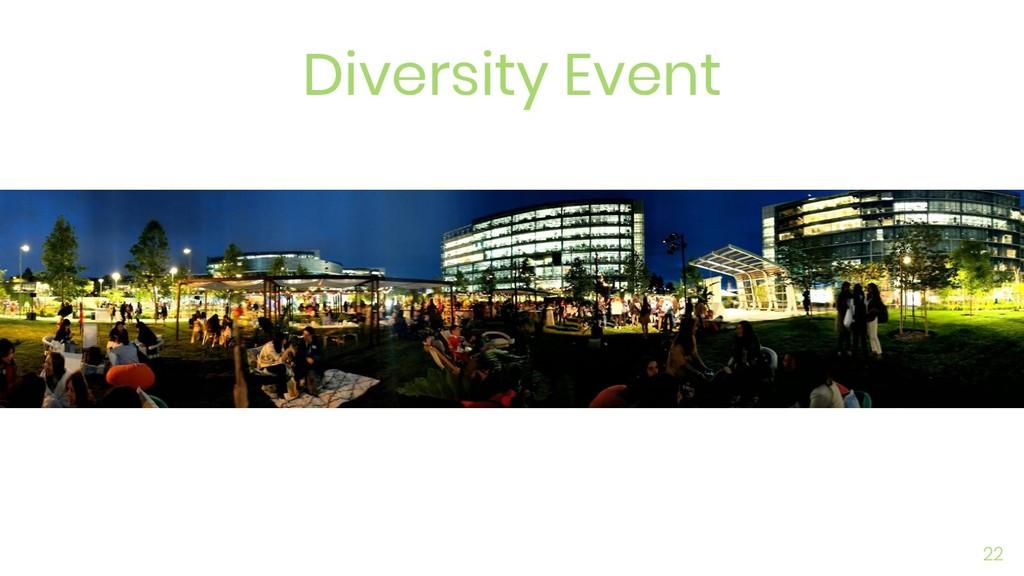 Diversity Event 22