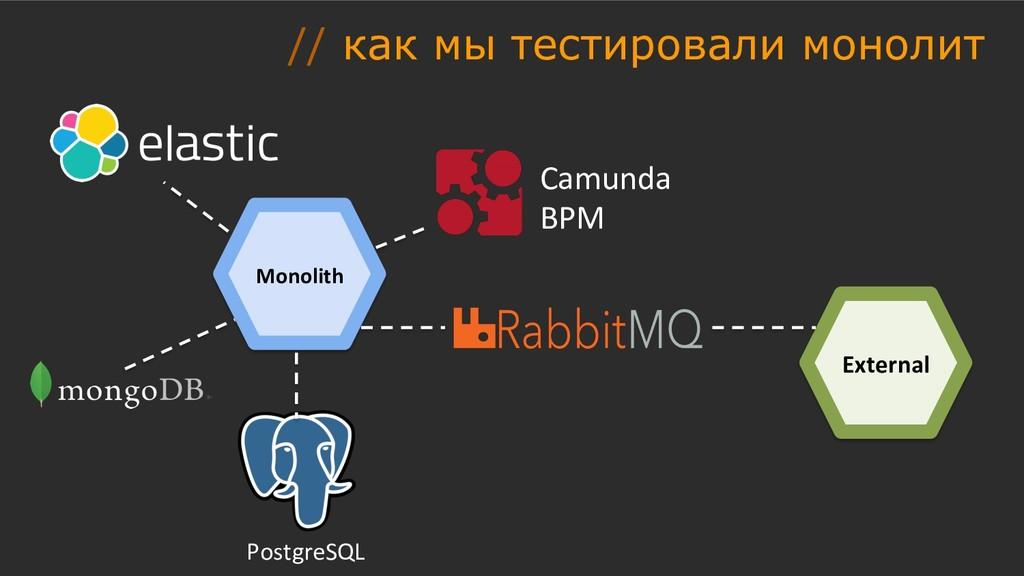 Monolith PostgreSQL External Camunda BPM // как...