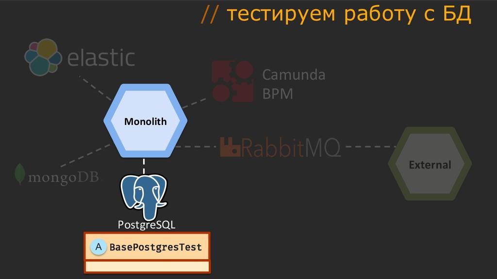 External Camunda BPM Monolith PostgreSQL BasePo...