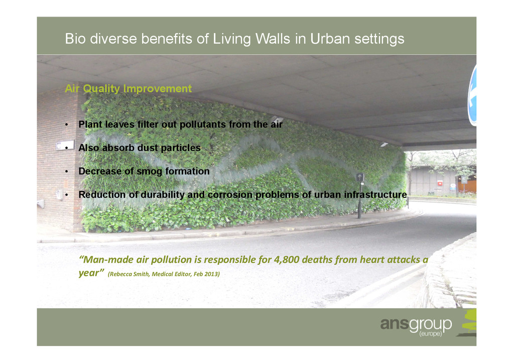 Bio diverse benefits of Living Walls in Urban s...