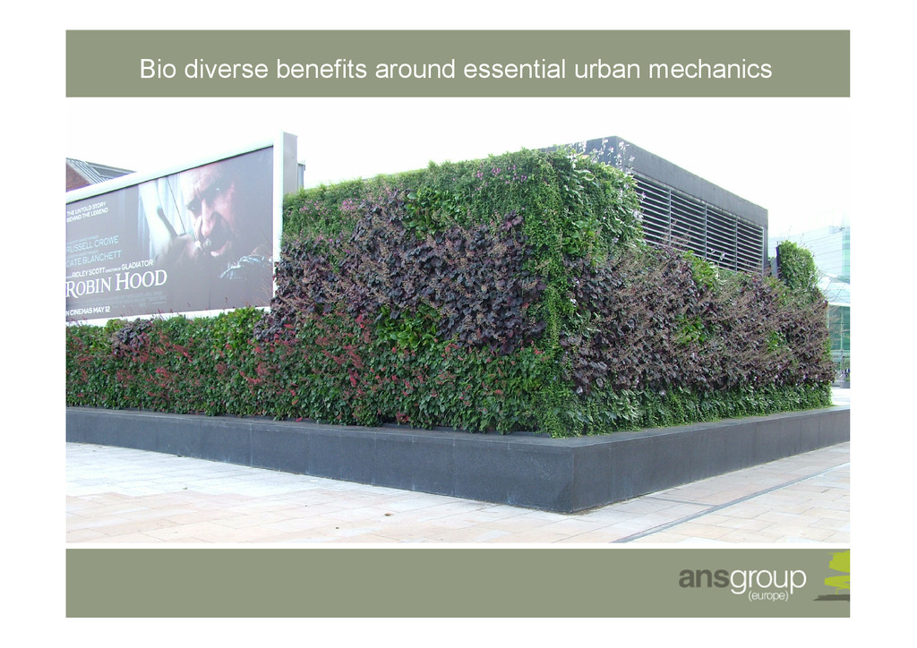 Bio diverse benefits around essential urban mec...