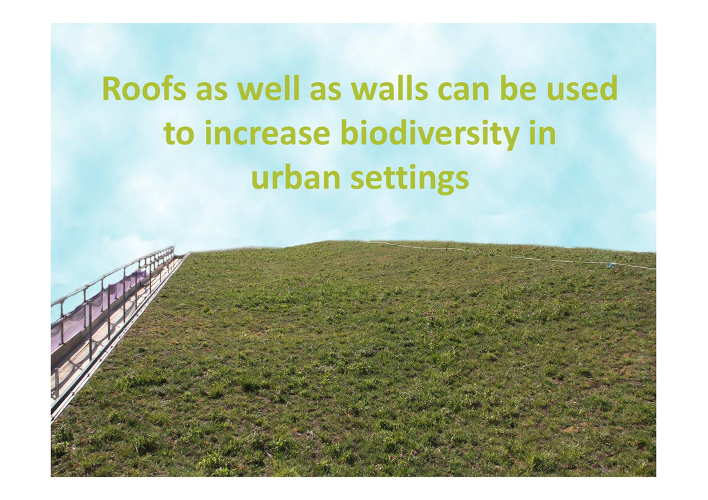 Roofs as well as walls can be used to increase ...