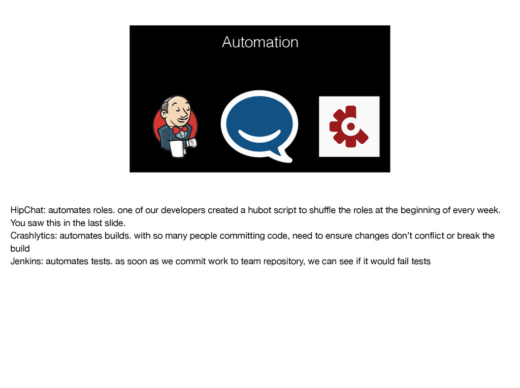 Automation HipChat: automates roles. one of our...