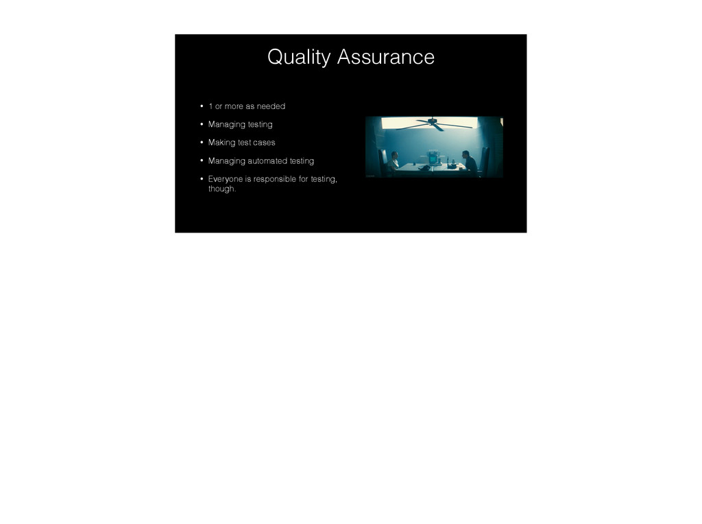 Quality Assurance • 1 or more as needed • Manag...
