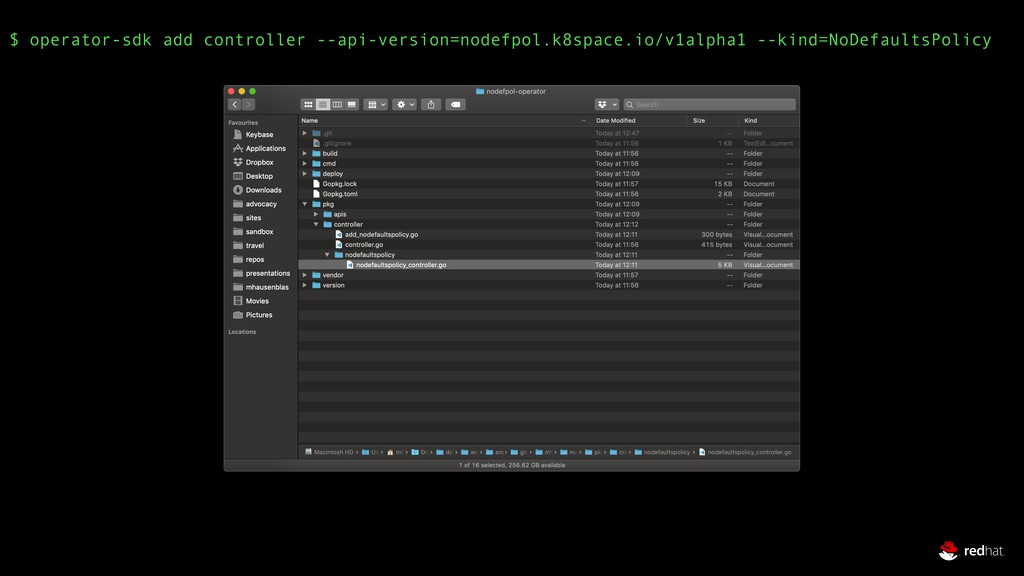 $ operator-sdk add controller --api-version=nod...