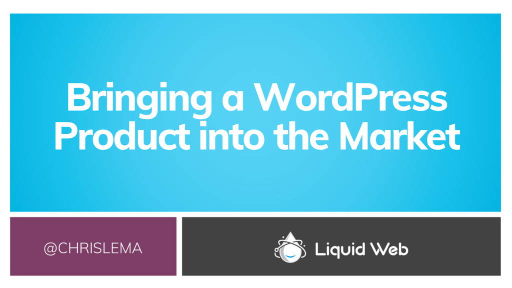 Bringing a WordPress Product into the Market @C...