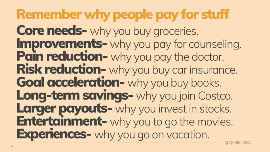 23 @CHRISLEMA Core needs- why you buy groceries...
