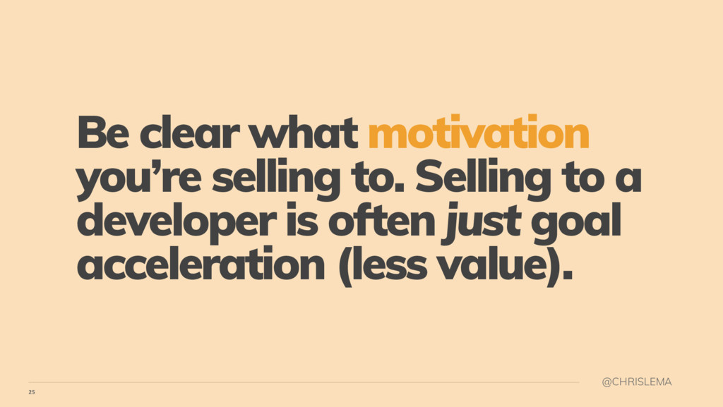 25 @CHRISLEMA Be clear what motivation you're s...