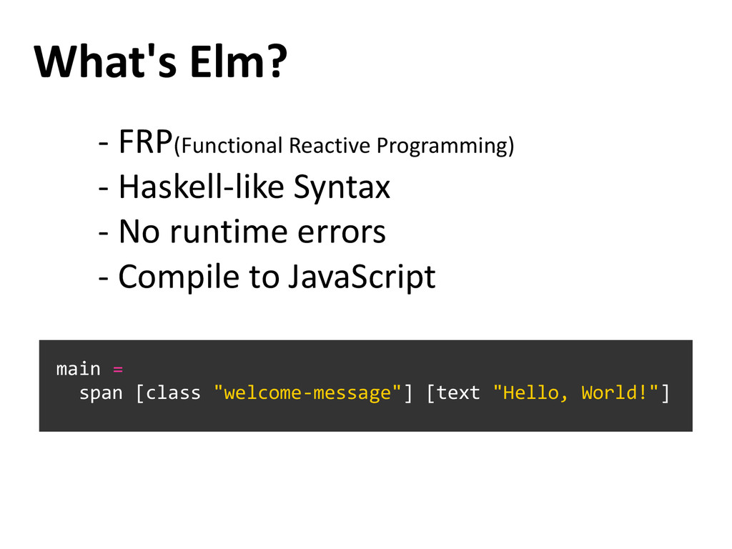 What's Elm? - FRP(Functional Reactive Programmi...