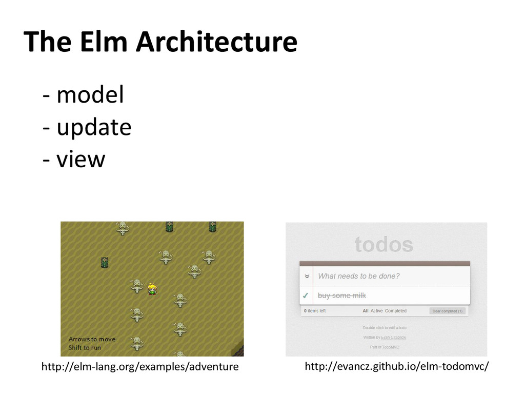 The Elm Architecture - model - update - view ht...