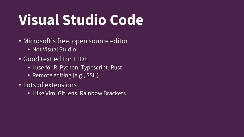 Visual Studio Code • Microsoft's free, open sou...