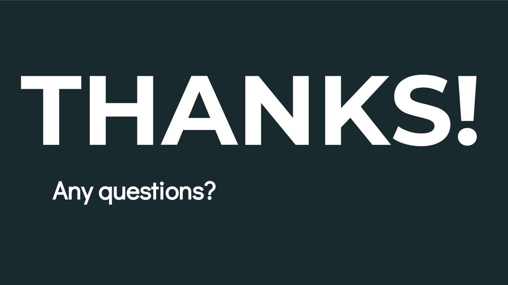 THANKS! Any questions? 30