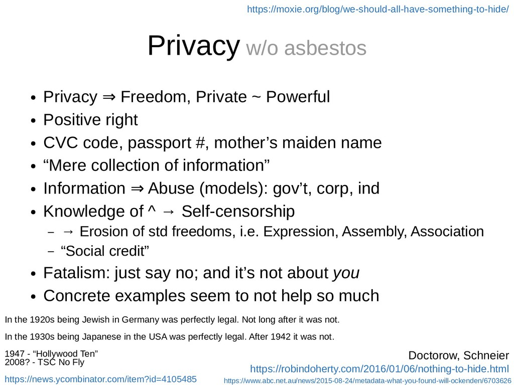 Privacy w/o asbestos ● Privacy Freedom, Private...
