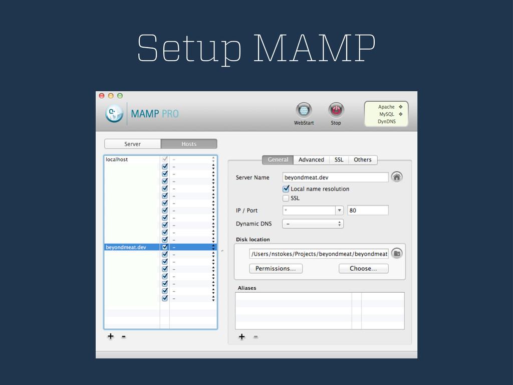 Setup MAMP