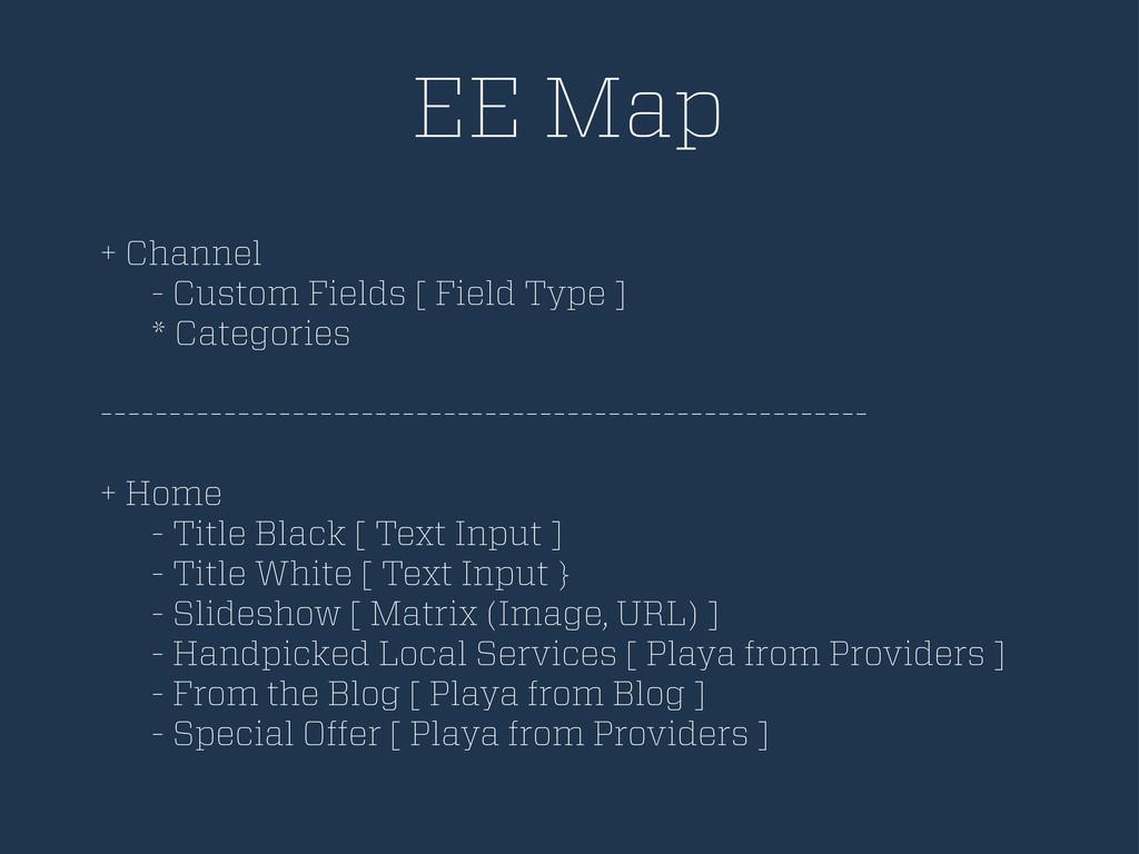 EE Map + Channel - Custom Fields [ Field Type ]...