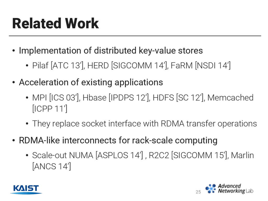 Related Work • Implementation of distributed ke...