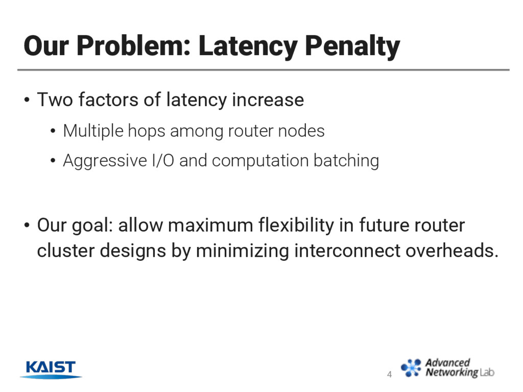 Our Problem: Latency Penalty • Two factors of l...