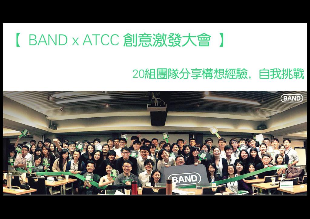 【 BAND x ATCC 創意激發大會 】 20組團隊分享構想經驗,自我挑戰