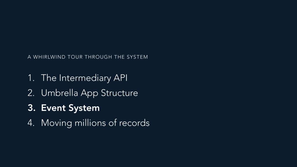 1. The Intermediary API 2. Umbrella App Structu...
