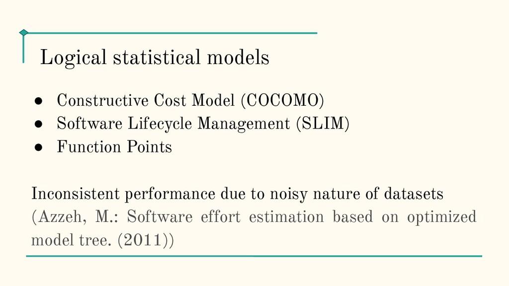 ● Constructive Cost Model (COCOMO) ● Software L...