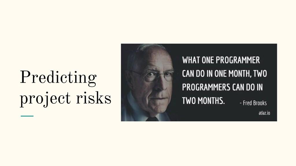 Predicting project risks