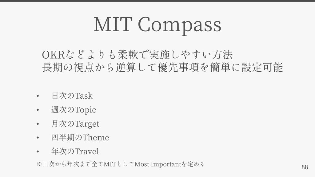 88 MIT Compass • Task • Topic • Target • Theme ...