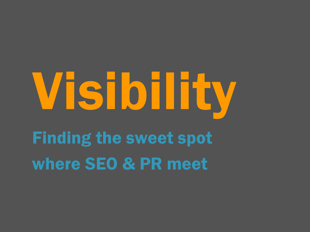 Visibility Finding the sweet spot where SEO & P...