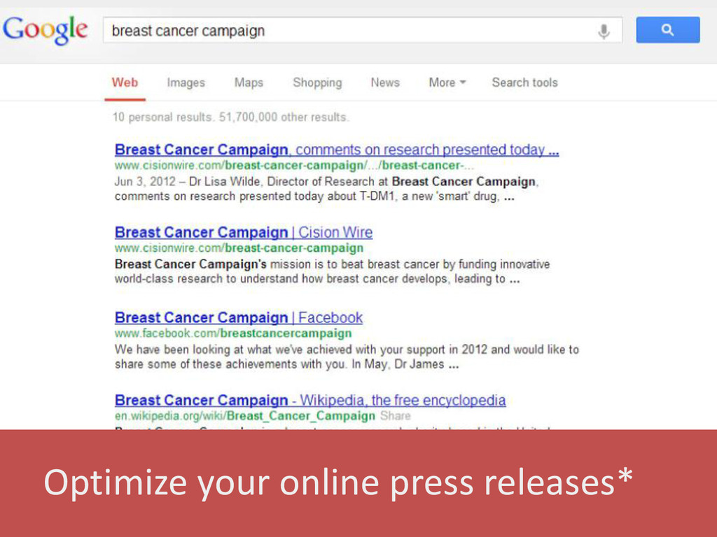 Optimize your online press releases*
