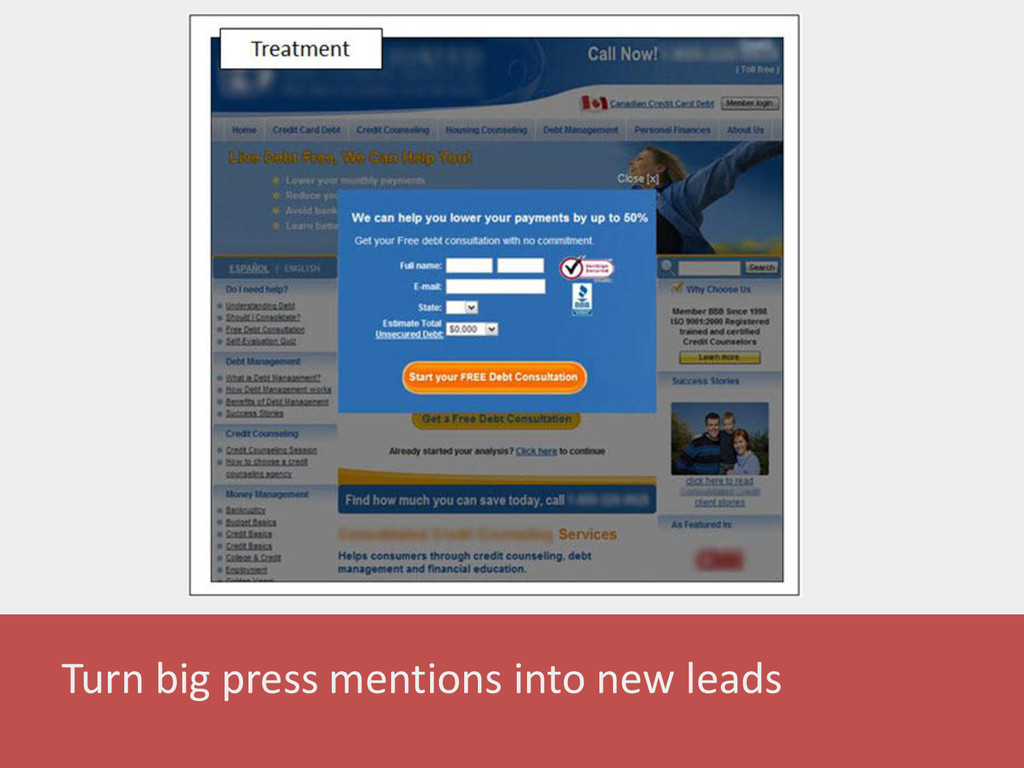 Turn big press mentions into new leads