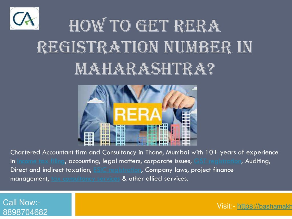 HOW TO GET RERA REGISTRATION NUMBER IN MAHARASH...