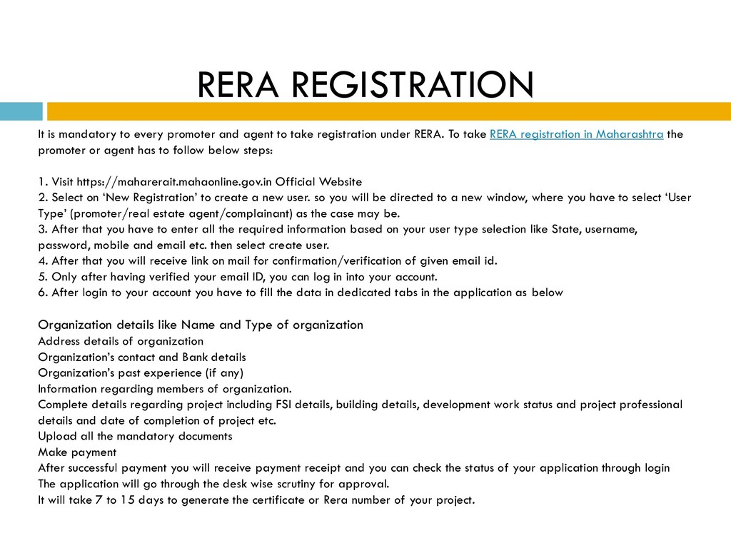 RERA REGISTRATION It is mandatory to every prom...