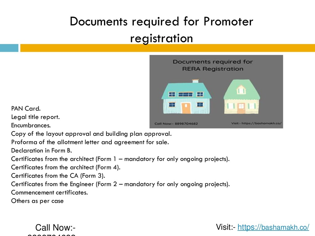 Documents required for Promoter registration PA...