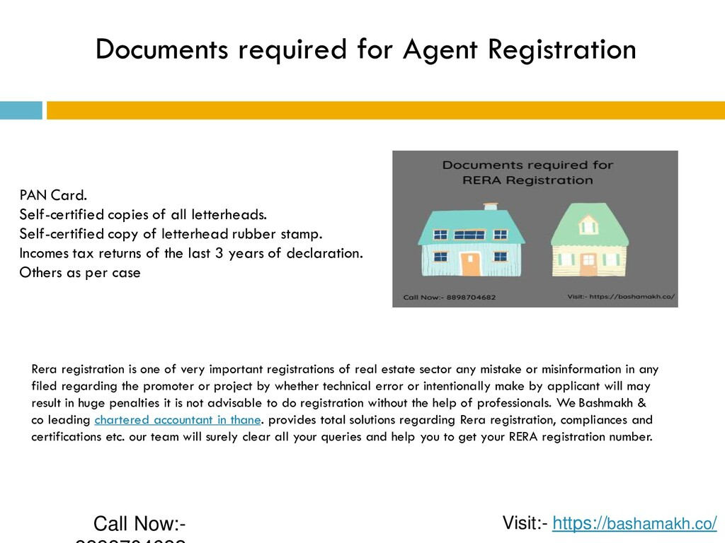 Documents required for Agent Registration PAN C...