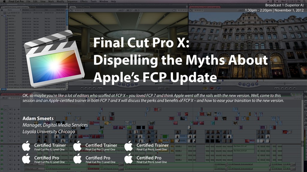 Final Cut Pro X: Dispelling the Myths About App...