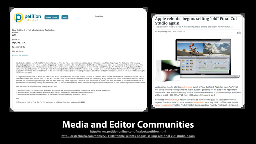 Media and Editor Communities http://www.petitio...