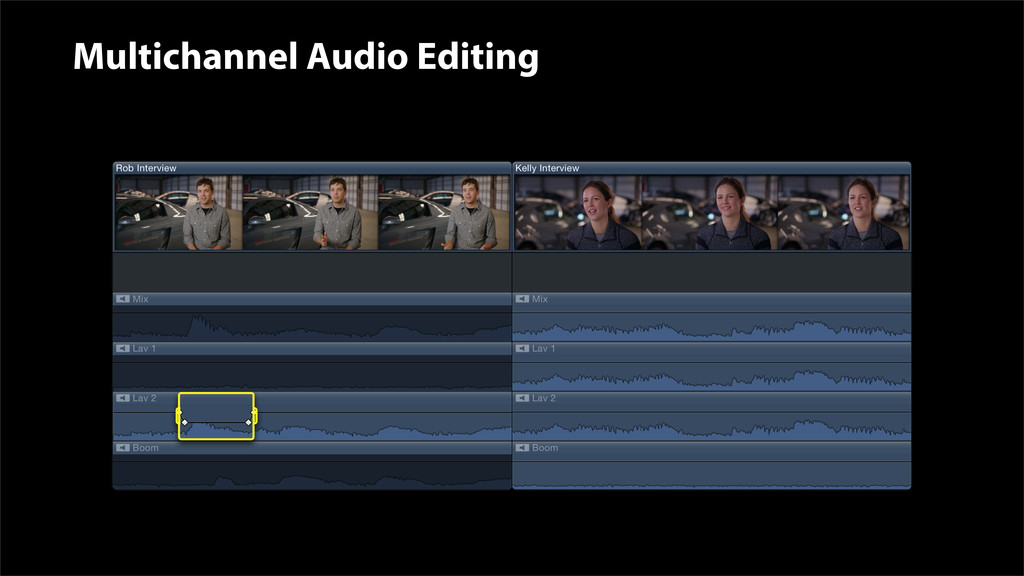 Multichannel Audio Editing