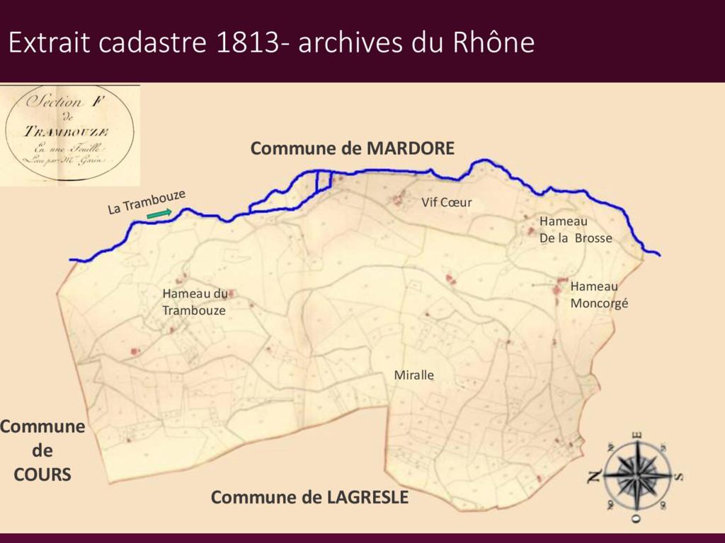 Commune de MARDORE Commune de LAGRESLE Hameau M...