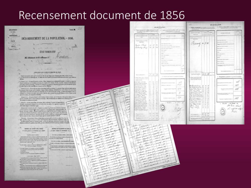 Recensement document de 1856