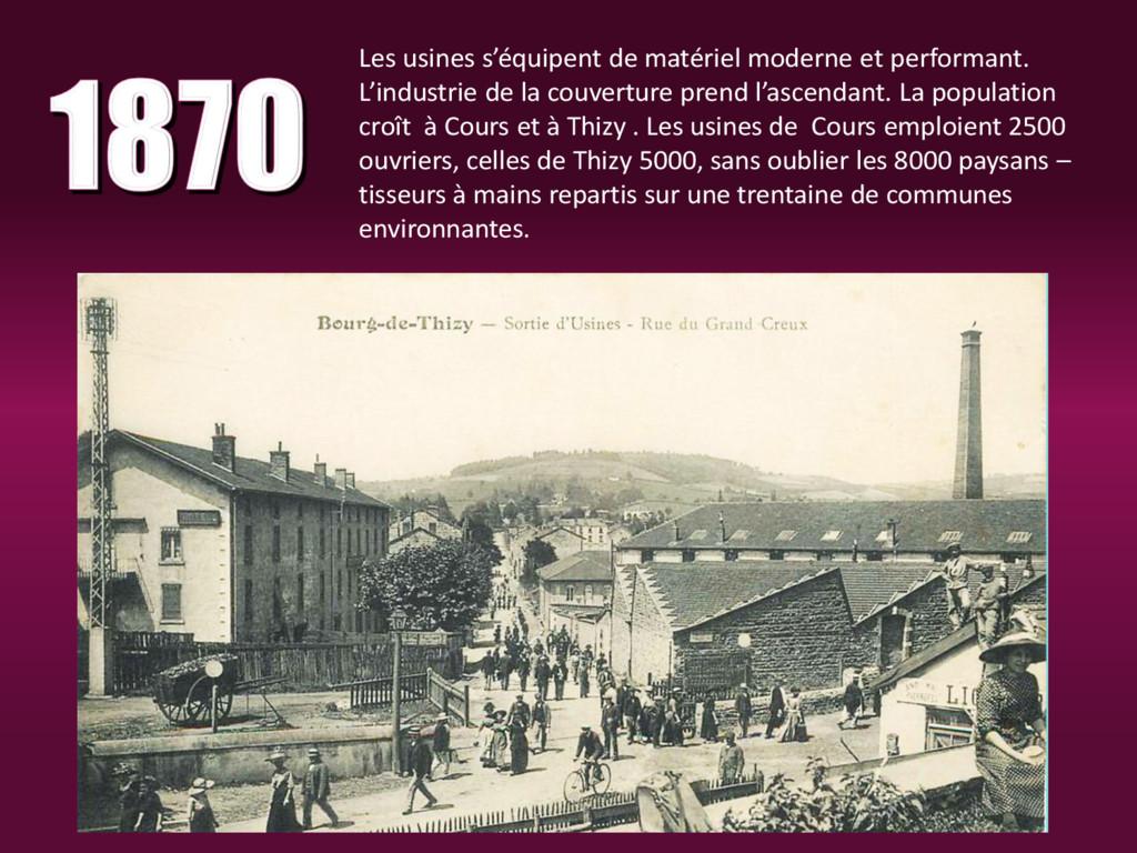 Les usines s'équipent de matériel moderne et pe...