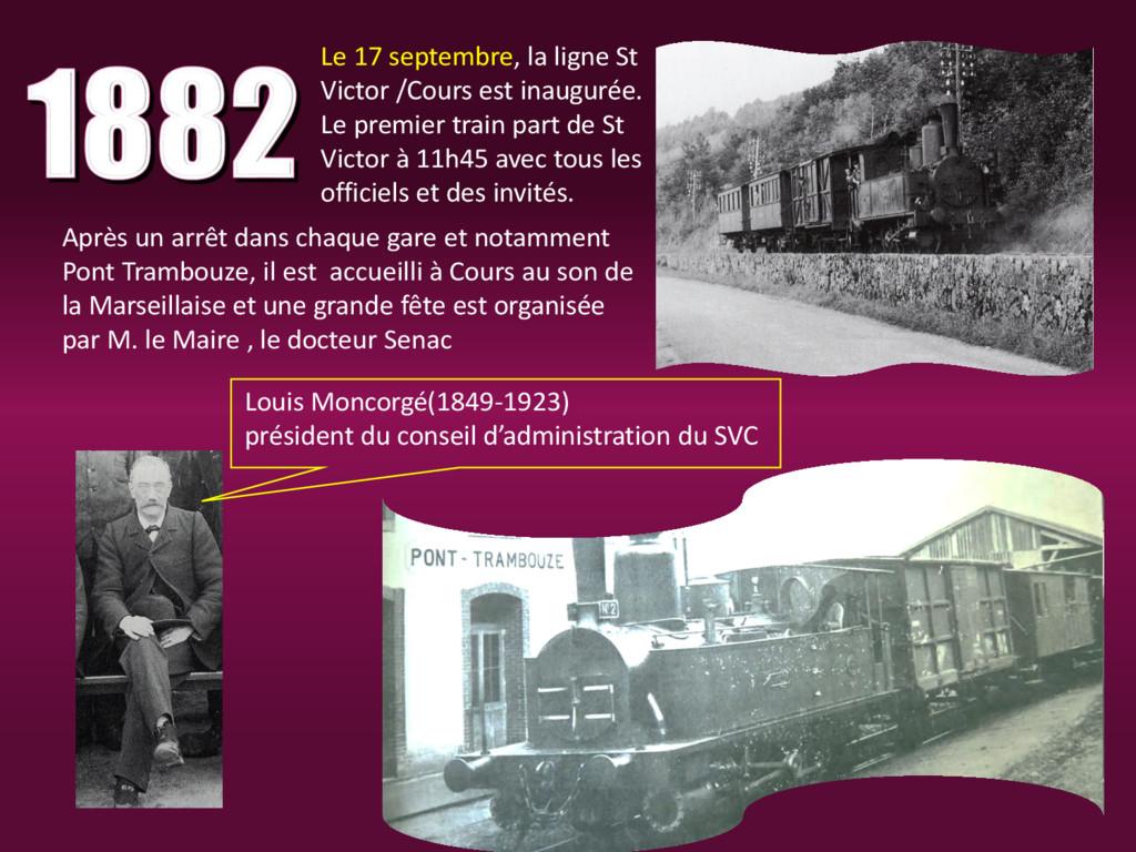 Le 17 septembre, la ligne St Victor /Cours est ...