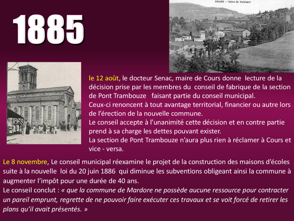le 12 août, le docteur Senac, maire de Cours do...