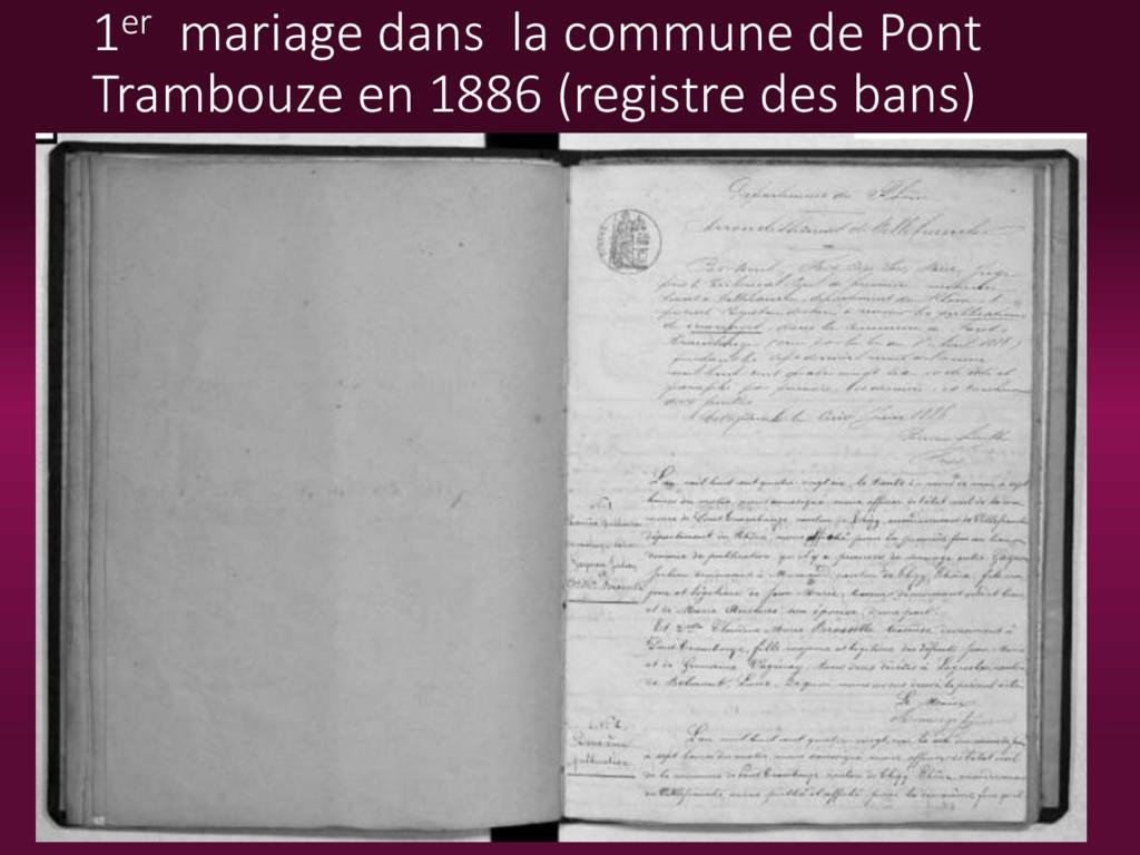1er mariage dans la commune de Pont Trambouze e...