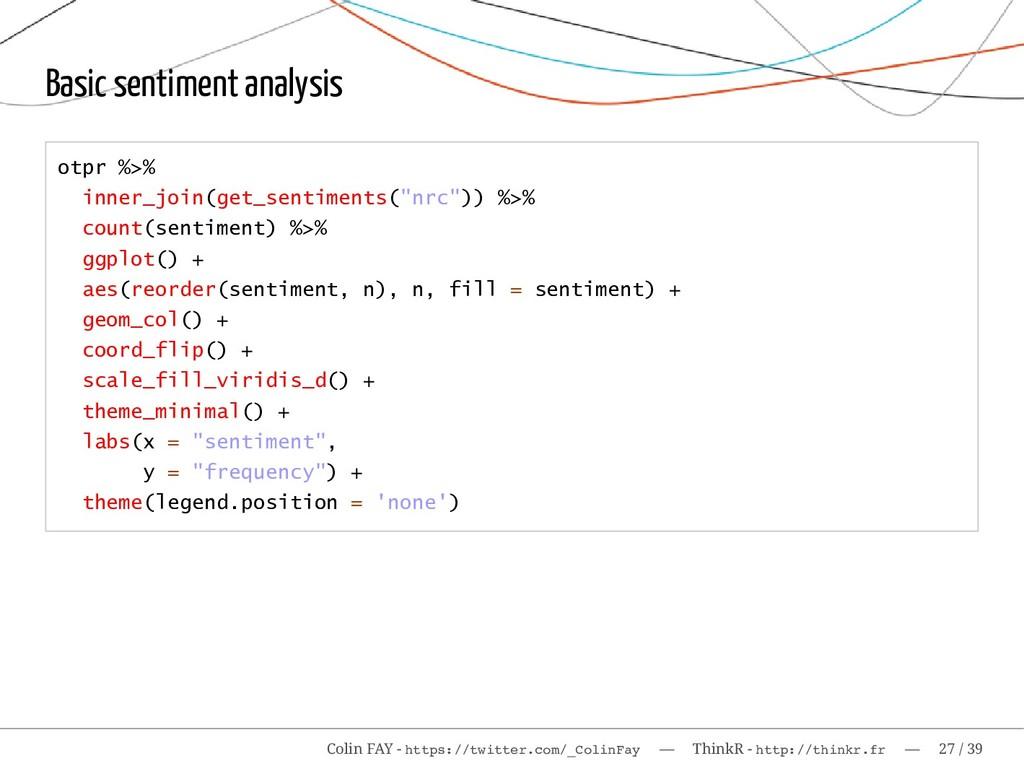 Basic sentiment analysis otpr %>% inner_join(ge...
