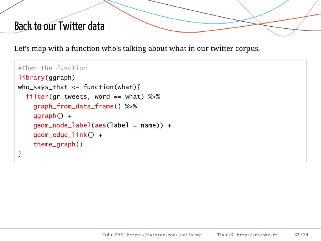 Back to our Twitter data Let's map with a funct...