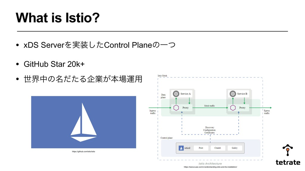 What is Istio? • xDS ServerΛ࣮૷ͨ͠Control PlaneͷҰ...