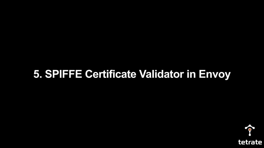 5. SPIFFE Certificate Validator in Envoy